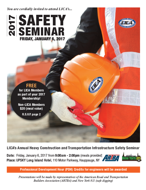 Lica lica annual safety seminar january 6 reserve now for 150 motor parkway hauppauge